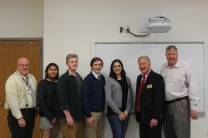 Senator Ed Reilly and Councilman Mike Peroutka visit our school